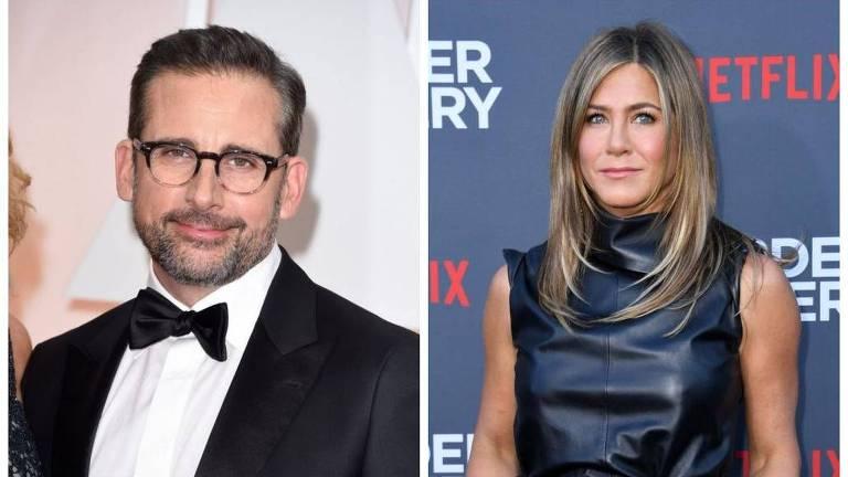 """Jennifer Aniston revela """"crush"""" em Steve Carell"""
