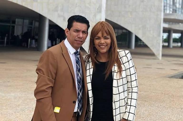 Anderson do Carmo, que foi assassinado, com a mulher, a deputada federal e cantora gospel Flordelis (PSD-RJ)