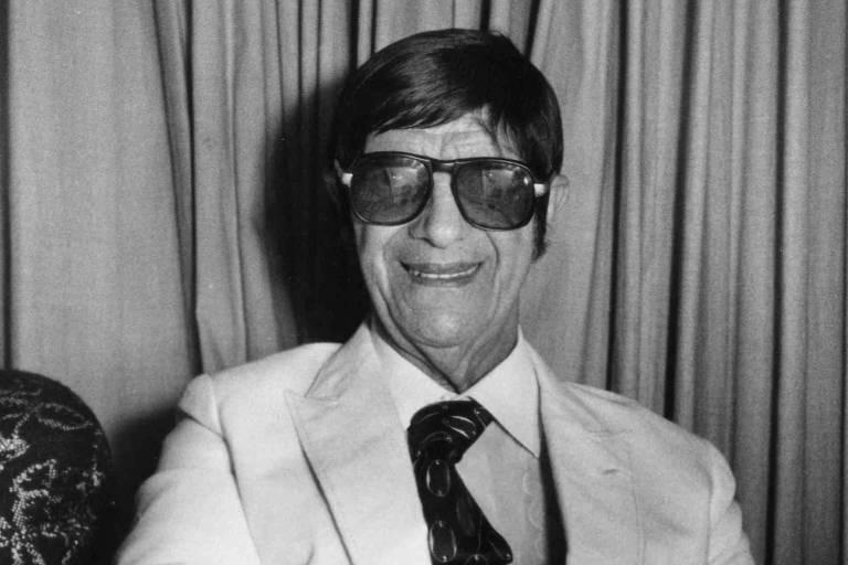 O médium Chico Xavier, em imagem de 1986