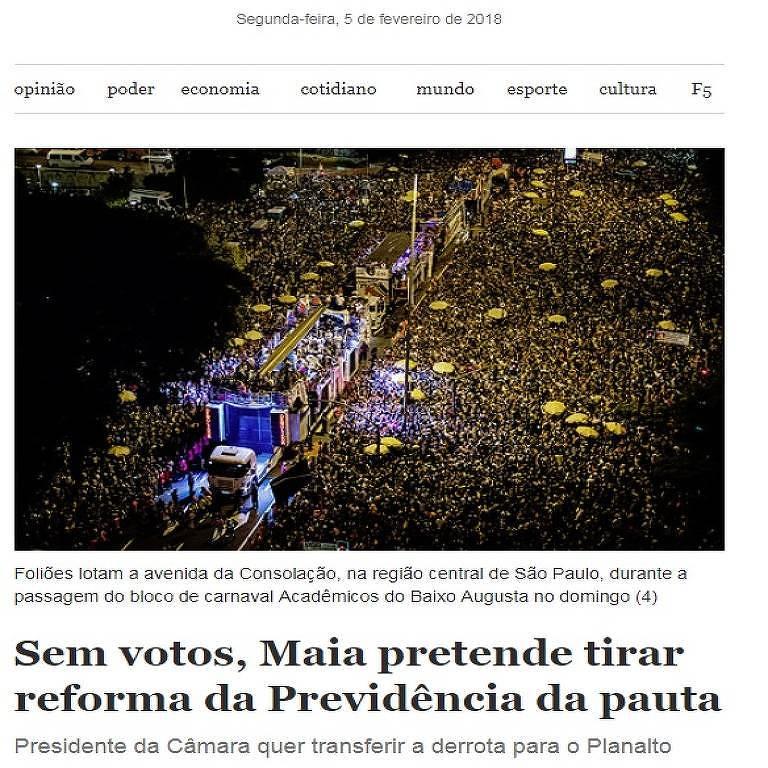 """Newsletter """"Notícias do Dia"""", da Folha"""
