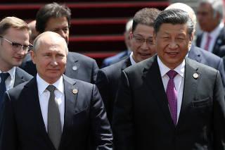 Russia?s President Vladimir Putin and China?s President Xi Jinping attend the SCO summit in Bishkek