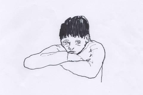 Ilustração do caderno da 63ª Turma de Trainees da Folha sobre transtorno psiquiatrico em adolescente/ Perfil suicidio