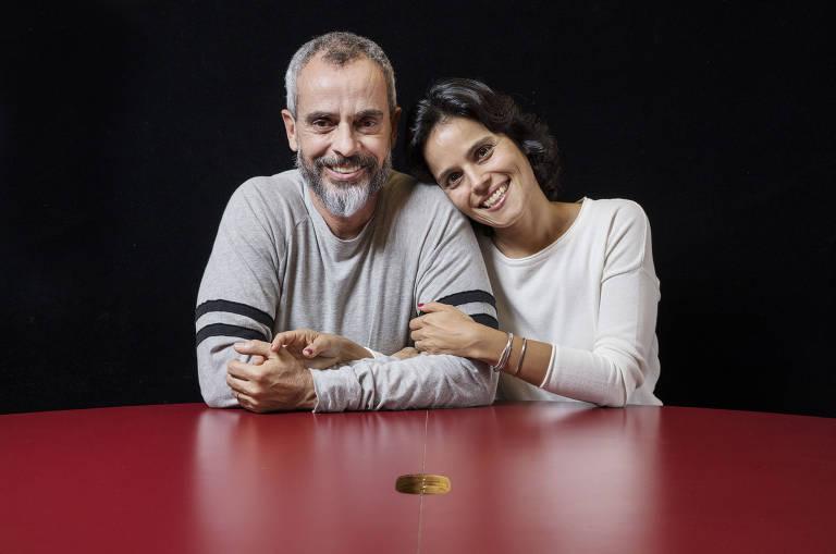O casal  Marcos Nisti, 55, e  Ana Lucia Villela, 45, no Instituto Alana