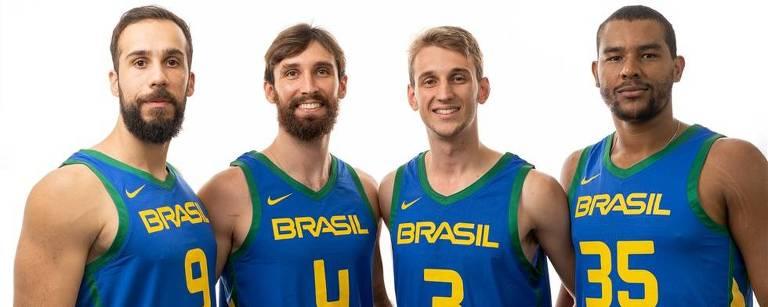 Seleção brasileira de basquete 3 x 3 na Copa do Mundo - Felipe Camargo, Jefferson Socas, William Weihermann e Jonatas Mello