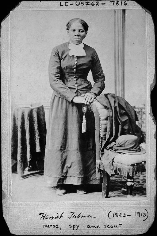 In a photo from the Library of Congress, Harriet Tubman, the abolitionist hero, circa 1860 to 1875. Plans to unveil the $20 Tubman bill in 2020, an Obama administration initiative, would be postponed until at least 2026, Treasury Secretary Steven Mnuchin said, and the bill itself would not likely be in circulation until 2028. (H. B. Lindsley/Library of Congress via The New York Times) -- FOR EDITORIAL USE ONLY --