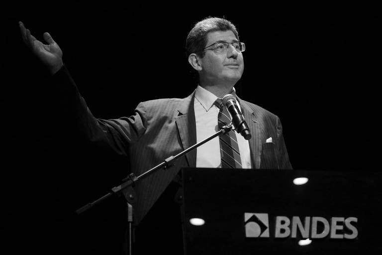 Joaquim Levy durante cerimônia no BNDES, em janeiro deste ano