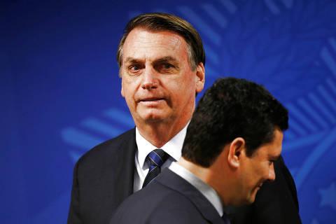 Silêncio de Moro após interferência de Bolsonaro incomoda cúpula da PF