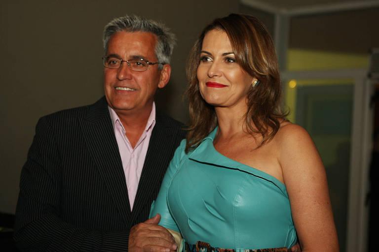 Mauro Naves e esposa Patricia no show de Milton Nascimento no HSBC