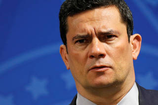 Brazil's Justice Minister Sergio Moro attends a ceremony at Planalto Palace in Brasilia
