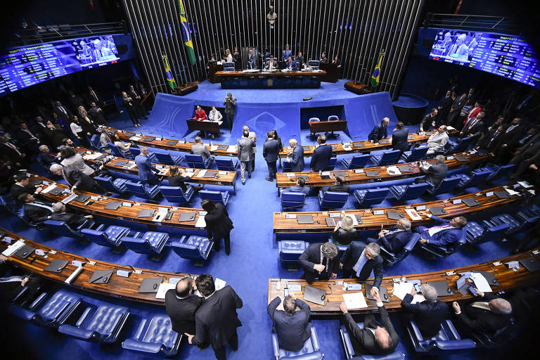 Plenário do Senado Federal durante sessão que rejeitou os decretos sobre armas