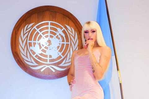 Pabllo Vittar fez um pocket show na sede da ONU em Nova York