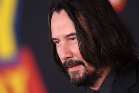 Canadian-US actor Keanu Reeves arrives for the world premiere of