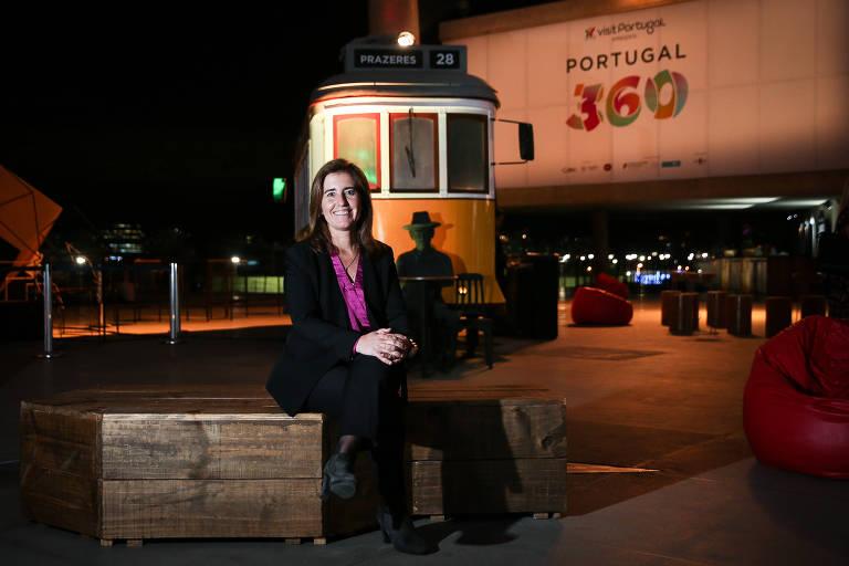 Ana Mendes Godinho, secretária de Turismo de Portugal, em evento no Rio