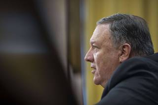 Secretary Of State Mike Pompeo Meets With Lawmakers On Capitol Hill