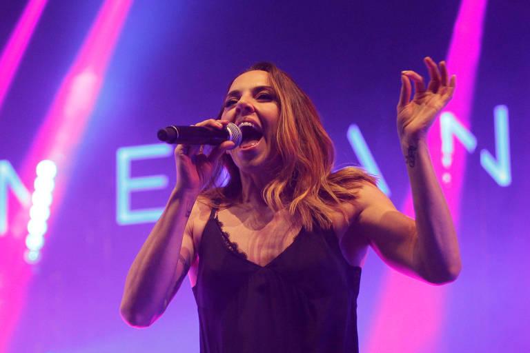 A Spice Girl e cantora britânica Melanice C se apresenta na ParadaSPFest