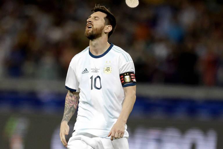 O meia Lionel Messi, que ainda não fez uma exibição de gala nesta Copa América, é a grande esperança da Argentinha para o clássico contra a seleção brasileira
