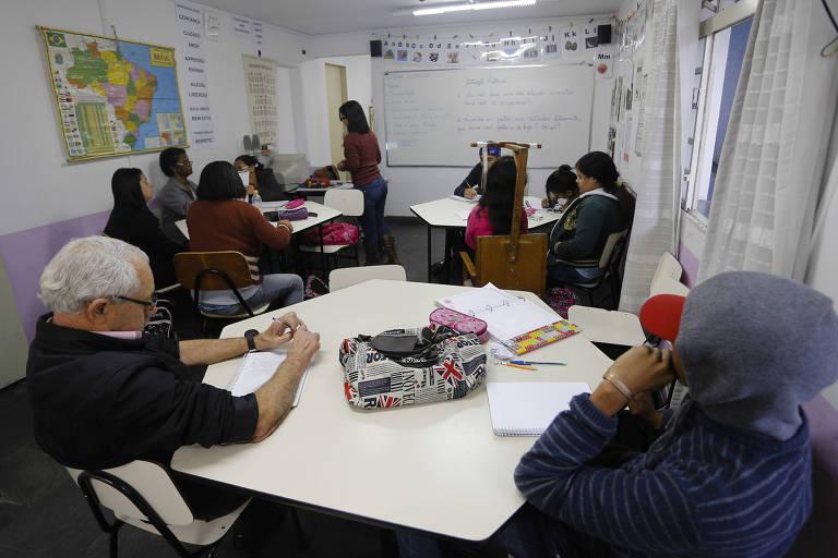 Sala do EJA (Educação de Jovens e Adultos)