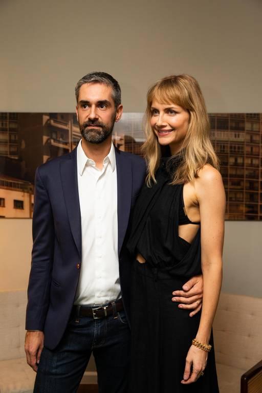 O advogado Augusto de Arruda Botelho e sua mulher, a modelo Ana Claudia Michels