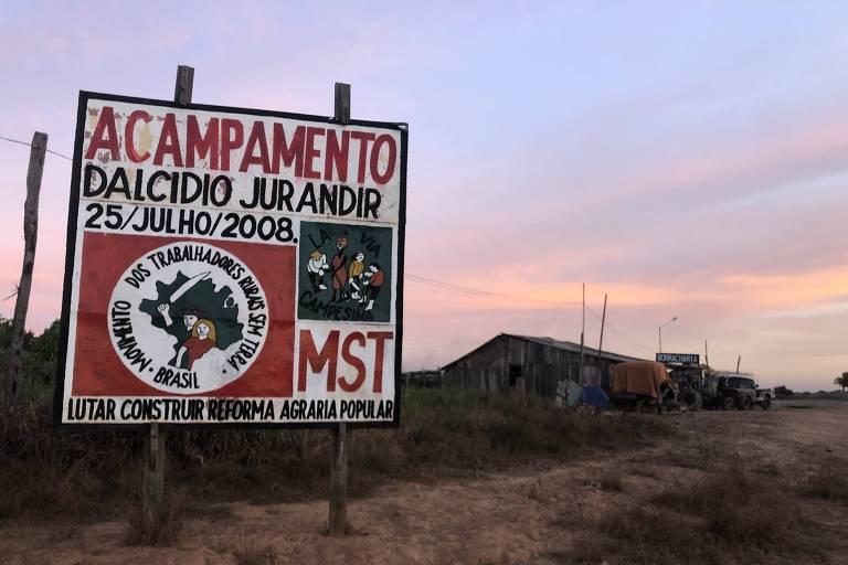 Entrada de assentamento do MST em Eldorado do Carajás (PA)