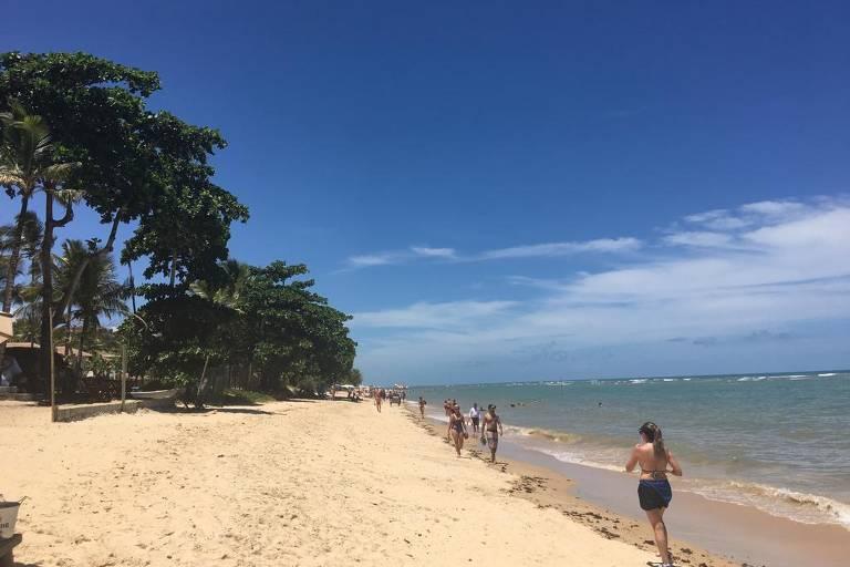 Praia do Parracho, em Arraial d´Ajuda, sul da Bahia