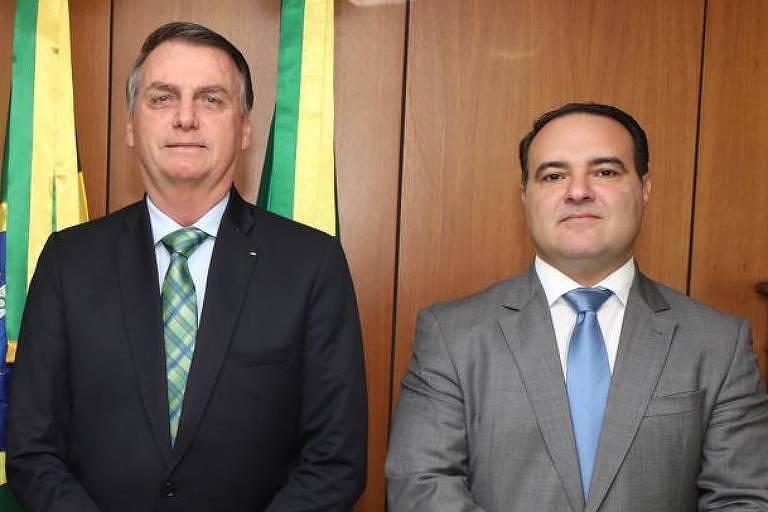 Jorge Francisco de Oliveira, novo ministro da Secretaria-Geral da Presidência, ao lado de Bolsonaro