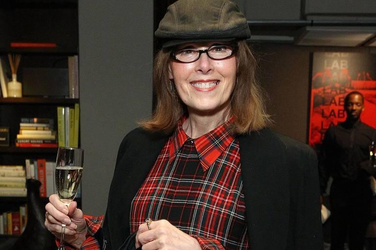 A jornalista E. Jean Carroll durante evento da revista Elle, em Nova York, em 2015