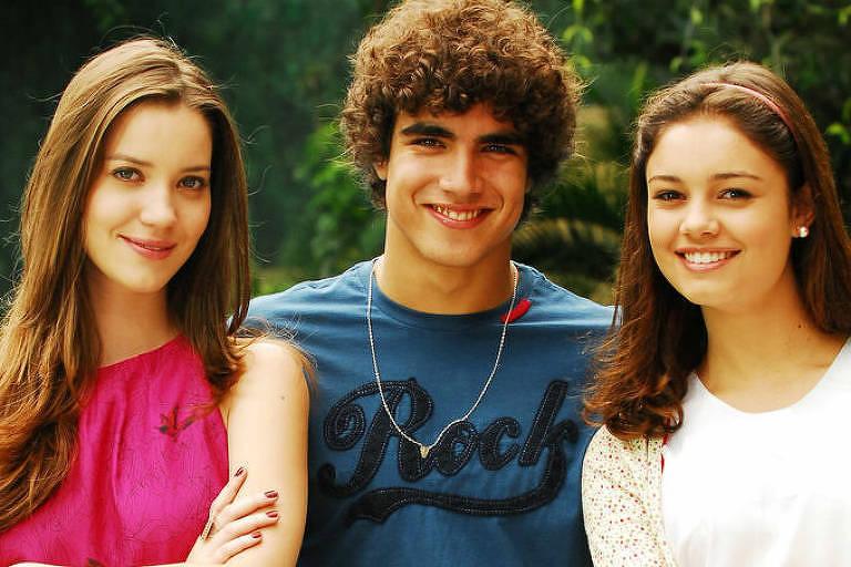 Nathalia Dill, Caio Castro e Sophie Charlotte em malhação