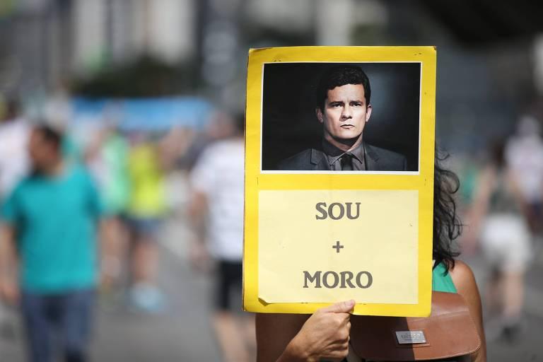 Ato organizado pelo MBL em São Paulo a favor da Lava Jato, em 2017