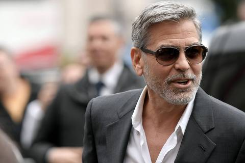 US actor and film director George Clooney poses during a photocall of the Catch-22 TV show on May 13, 2019 in Rome. (Photo by Tiziana FABI / AFP) ORG XMIT: TZF01