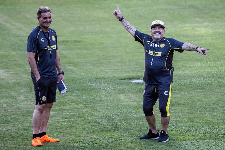 Entre 2018 e 2019, Maradona foi técnico do Dorados, no México