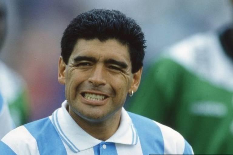 Maradona após o fim da partida contra a Nigéria