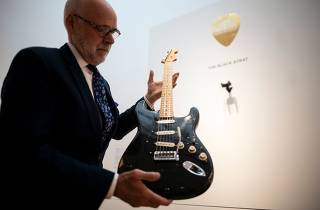 The David Gilmour Guitar Collection - public viewing at Christies