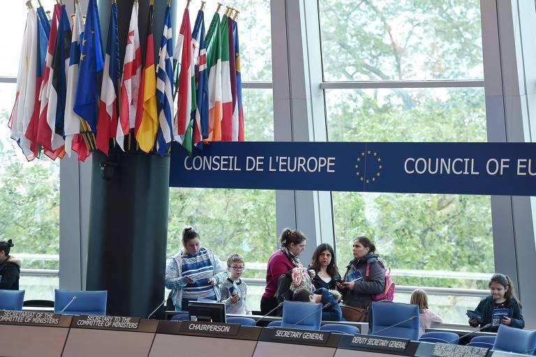 Visitantes no Conselho da Europa em maio deste ano