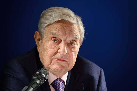 (FILES) In this file photo taken on January 24, 2019 Hungarian-born US investor and philanthropist George Soros delivers a speech on the sideline of the World Economic Forum (WEF) annual meeting in Davos, eastern Switzerland. -