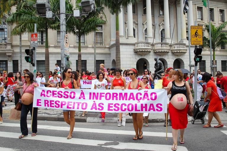Mulheres acampadas em frente à Faculdade de Direito do Largo São Francisco encerram protesto em solidariedade a mãe obrigada a fazer cesárea