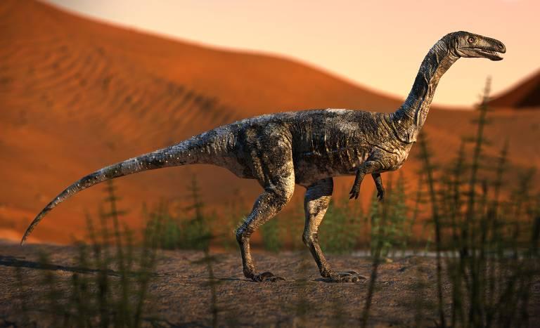 Reconstrução do Vespersaurus paranaensis