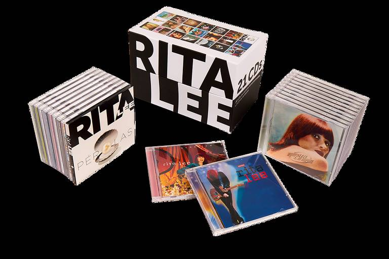 Box com 21 CDs de Rita Lee