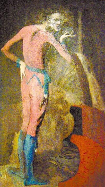 """Imagem do quadro """"O Ator"""", do artista espanhol Pablo Picasso"""