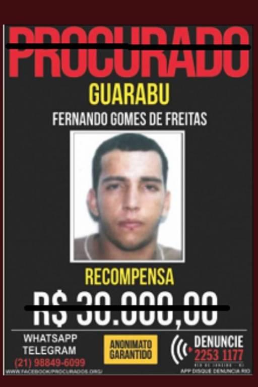 Fernandinho Guarabu foi morto em ação policial na Ilha do Governador (RJ)
