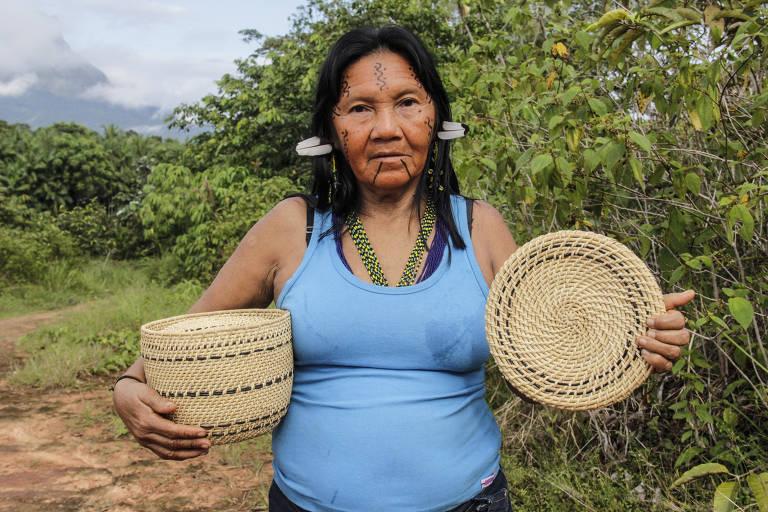 Mulheres da aldeia Maturacá (AM) descobrem espécie de fungo usado em cestaria