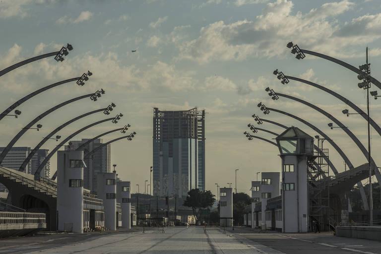 Sambódromo faz parte das instalações do complexo do Anhembi, na zona norte