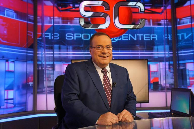 Paulo Soares, o Amigão, nos estúdios do SportsCenter, da ESPN