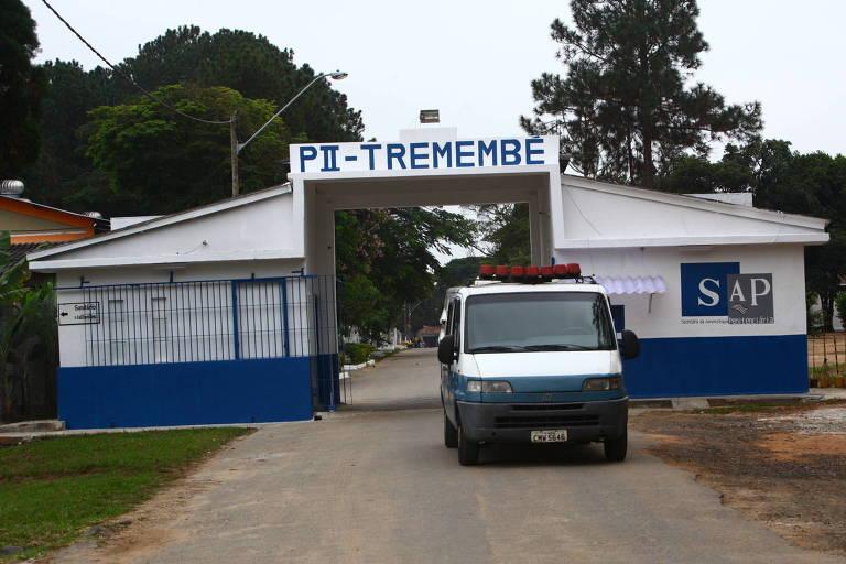 Entrada de complexo penitenciário em Tremembé, a 138 km de São Paulo