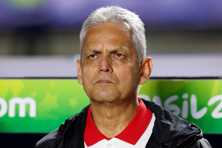 Reinaldo Rueda durante duelo contra o Japão, no Morumbi, pela Copa América