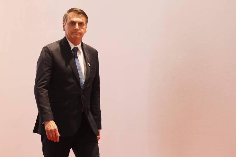 O presidente Jair Bolsonaro durante o G20, no Japão