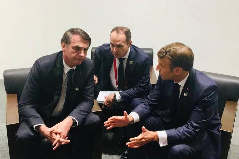 Image result for macron bolsonaro