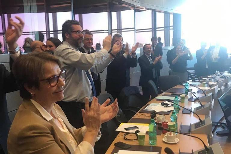 Ministra da Agricultura, Tereza Cristina, comemora fechamento de acordo Mercosul e União Europeia