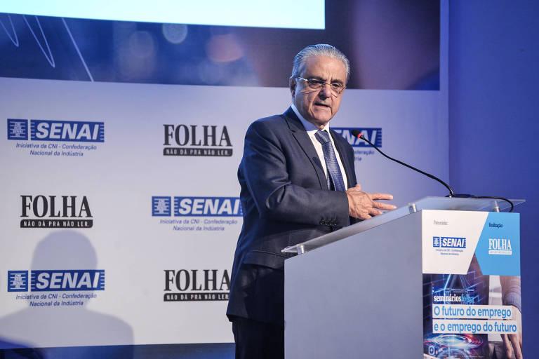 Robson Braga de Andrade, presidente da CNI em seminário sobre o Futuro do Emprego e o Emprego do Futuro