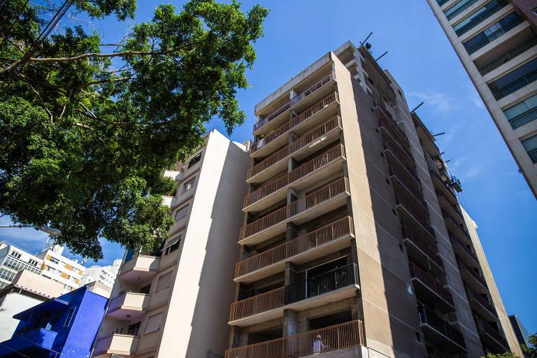 Fachada do empreendimento Citizen Paulista, da construtora BKO, em obras na região central de São Paulo; construtora vai vender 20 dos 76 imóveis do edifício por um sistema de cotas: cada apartamento pode ter até 26 donos