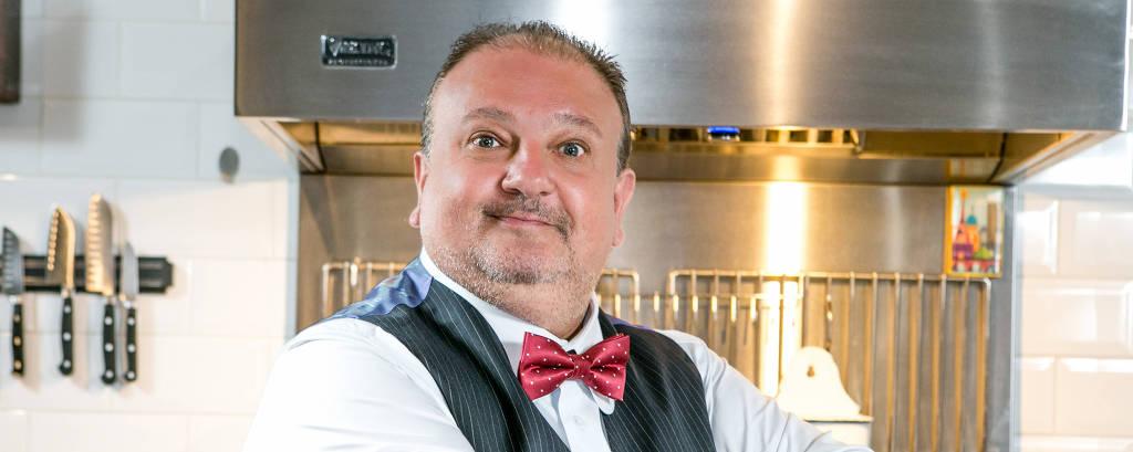 O chef e jurado do programa culinário MasterChef, Erick Jacquin